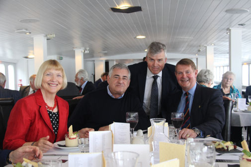 Headmaster and Former President on board the