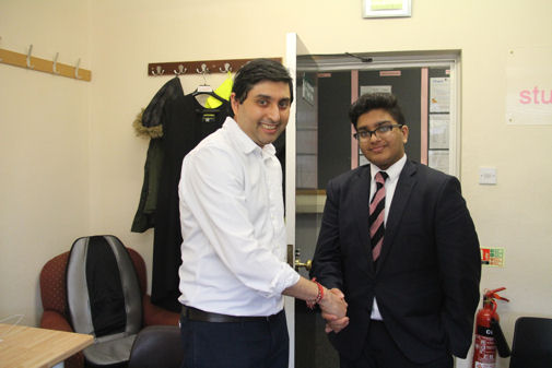 Bhavin Kotecha meeting his Mentee