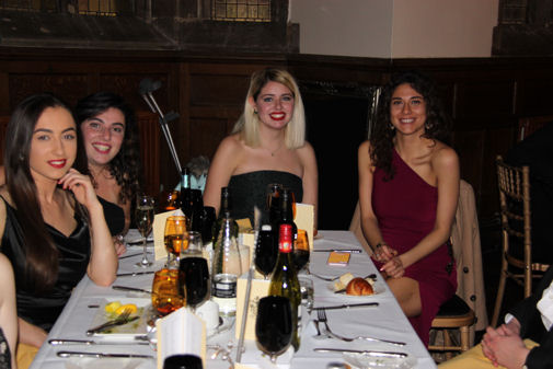Choir members at OA Dinner